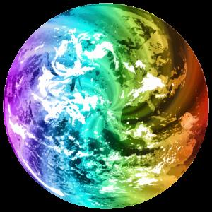 Bunter Globus Weltkugel Erde Bunte Erdkugel