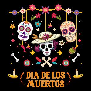 Dia De Los Muertos Tag der Toten Hängende Schädel