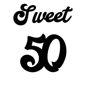 Sweet 50. Geburtstag Lustiges Motiv Frau Geschenk