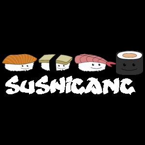 Sushi Gangs niedliches japanisches Motiv