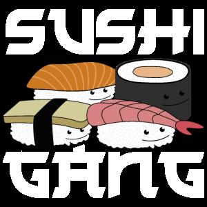 niedliches Sushi Sushigang Wortspiel