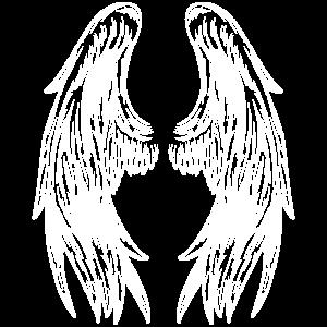 Engelsflügel auf der Rückseite Engel Flügel