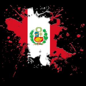 Peru Flagge als Farbklecks