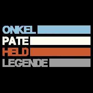 Onkel Pate Held Legende - Retro Patenonkel Taufe