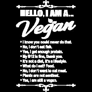 Hello I Am A Vegan Geschenk