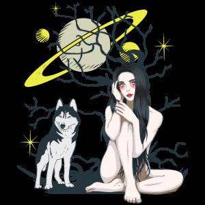 Vampire Wolf Wildnis Fantasy Planeten Universum