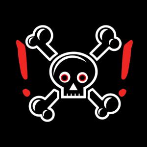Danger Totenkopf Skelett Maske Mundnasenschutz
