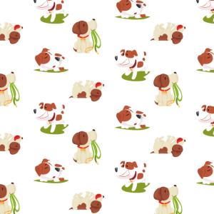 Mundschutz Hundemuster