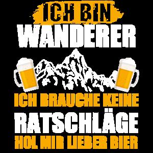 Wandern Bier Wanderer Saufen Berge Wald Wanderweg