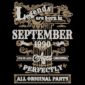 Legends are Born In September 1990 Geburtstag