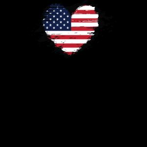 Amerikanische Flagge Distressed American Flag Heart