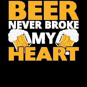 Bier brach nie mein Herz Humor Geschenkidee