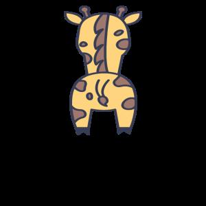 Giraffe Rücken Hintern Po