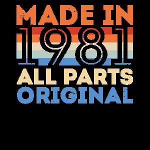 Made in 1981 Vintage Geburtstag 39 Jahre Geschenk