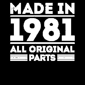 Made in 1981 Vintage Geburtstagsshirt 39 Jahre