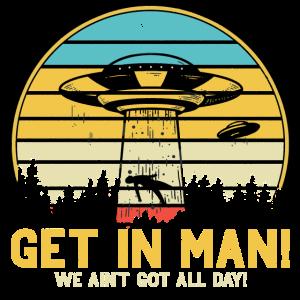 UFO Vintage Retro Alien Outerspace Raumschiff