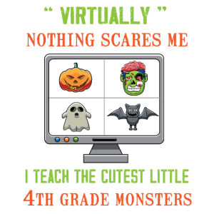 Nettes Halloween Online-Lehrhemd - E-Learning