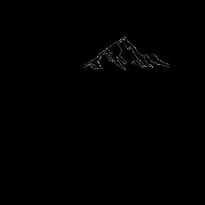 Herzschlag Berg Berge Wandern Geschenk T-Shirt