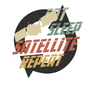 Hipster Eat Sleep Satellite Repeat SATELITE