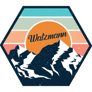 Watzmann Berg Bergmassiv Vintage Retro