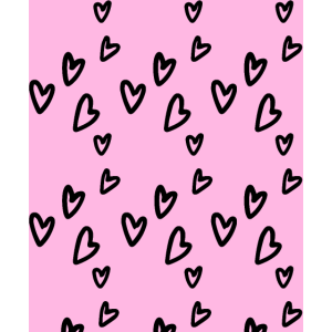 Scribble Hearts Dekoration