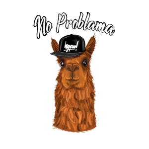 No Problama Lama Alpaka Lustiges Geschen Hipster