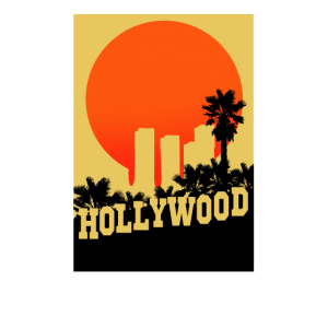 Hollywood Design Skyline Palmen