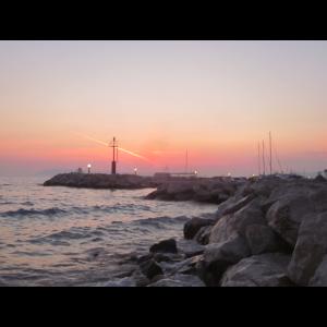 Felsen, Strand und Sonnenuntergang, Geschenkidee