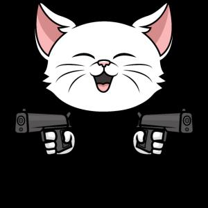 Du bist lustig Dich töte ich zuletzt Katze Spruch