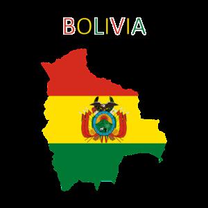 Bolivien Flagge - Kunstdesign