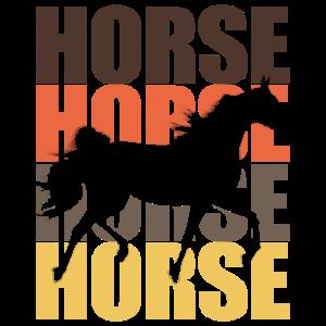 Pferde Horse Retro Vintage