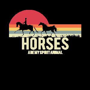 Pferde horses retro Spruch