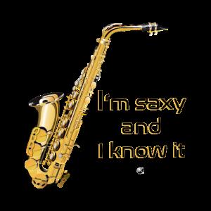 Saxophone Abbildung mit Inschrift