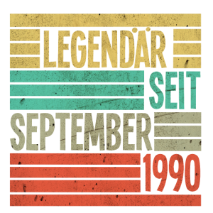 Legendär Seit September 1990 Retro Vintage