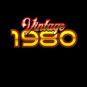 1980 Geburtstag Vintage