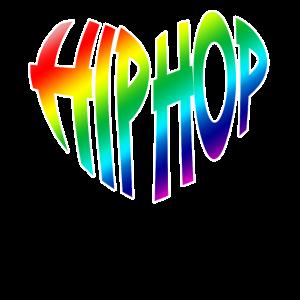 Hip Hop mit vollfarbigem Herzen