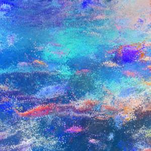 Unterwasser Korallen - Punkte Malerei