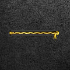 Reißverschluss und Leder illustration