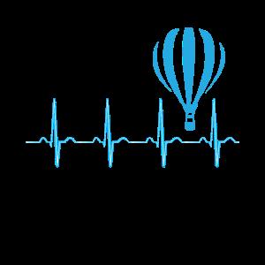Heißluftballon Herzschlag