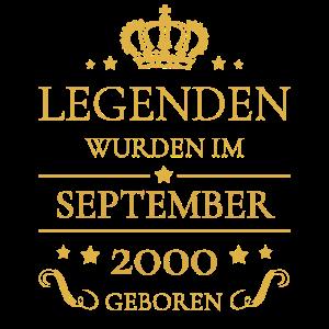 Geburtstag Jahrgang September 2000 Geschenk