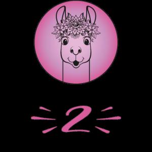 Design für Mädchen: Hurra 2 Jahre alt.