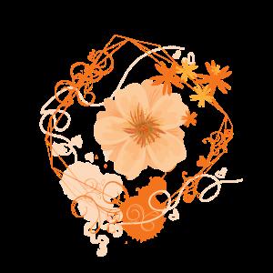 Blumenranken mit Blüte orange