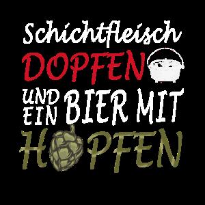 Dutch Oven Schichtfleisch Dopfen