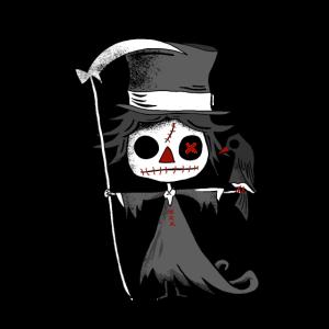 Sensemann mit Krähe. Gothic Darkness Zombie Comic