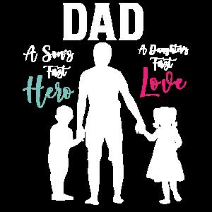Vater von zwei Kindern