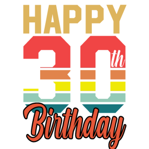 Happy 30 Birthday 30. Geburtstag 1990 Shirt Retro
