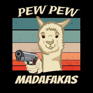 Alpaka Pew Pew Madafakas Lustiges Alpaka Lama