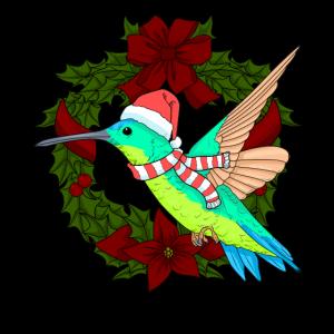 Weihnachten Kolibri Geschenk Vogel Tshirt Kolibri