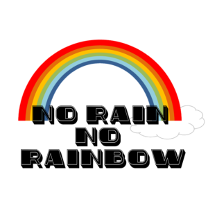 Regenbogen Retro Spruch