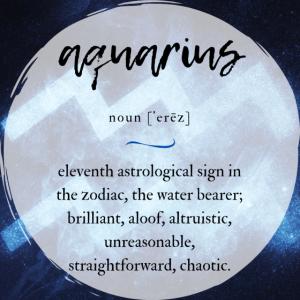 Aquarius (Wassermann) | Sternzeichen Poster